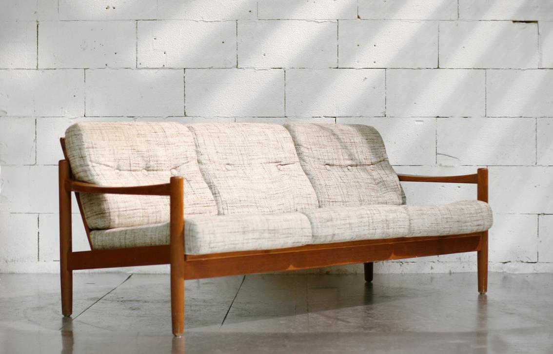 Retro vintage deens scandinavisch 3 zitsbank jaren 60 for Scandinavisch design bank