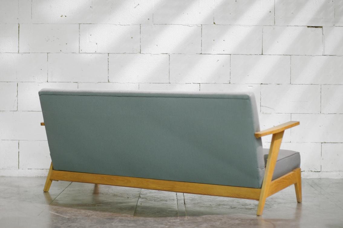 Retro vintage driezitsbank strak ontwerp jaren 60 dehuiszwaluw - Ontwerp jaren ...