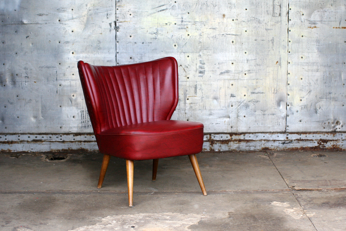 retro vintage cocktail fauteuil jaren 60 bordeaux rood dehuiszwaluw. Black Bedroom Furniture Sets. Home Design Ideas
