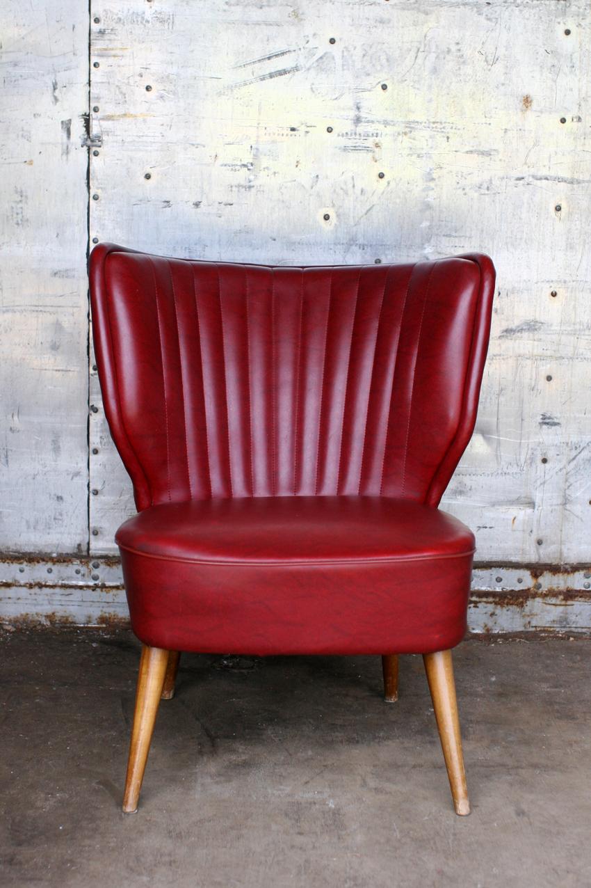 retro vintage cocktail fauteuil jaren 60 bordeaux rood dehuiszwaluw. Black Bedroom Furniture Sets. Home Design Ideas