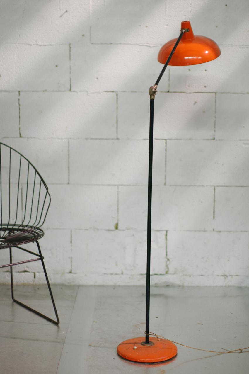 Geweldige Retro Vintage Metalen staande lamp met verstelbare standaard ...