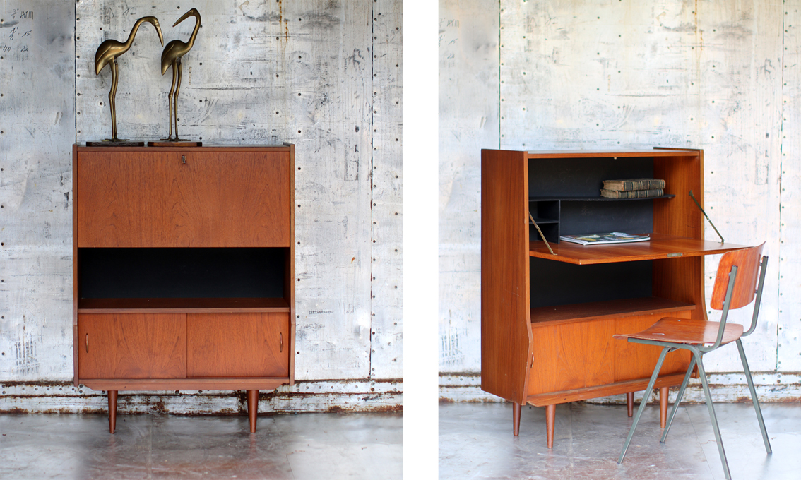 retro vintage secretaire uit de jaren 60 dehuiszwaluw. Black Bedroom Furniture Sets. Home Design Ideas