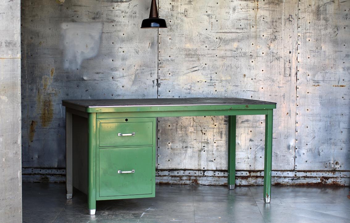 Industrieel vintage ahrend oda bureau jaren 50 groen for Bureau retro