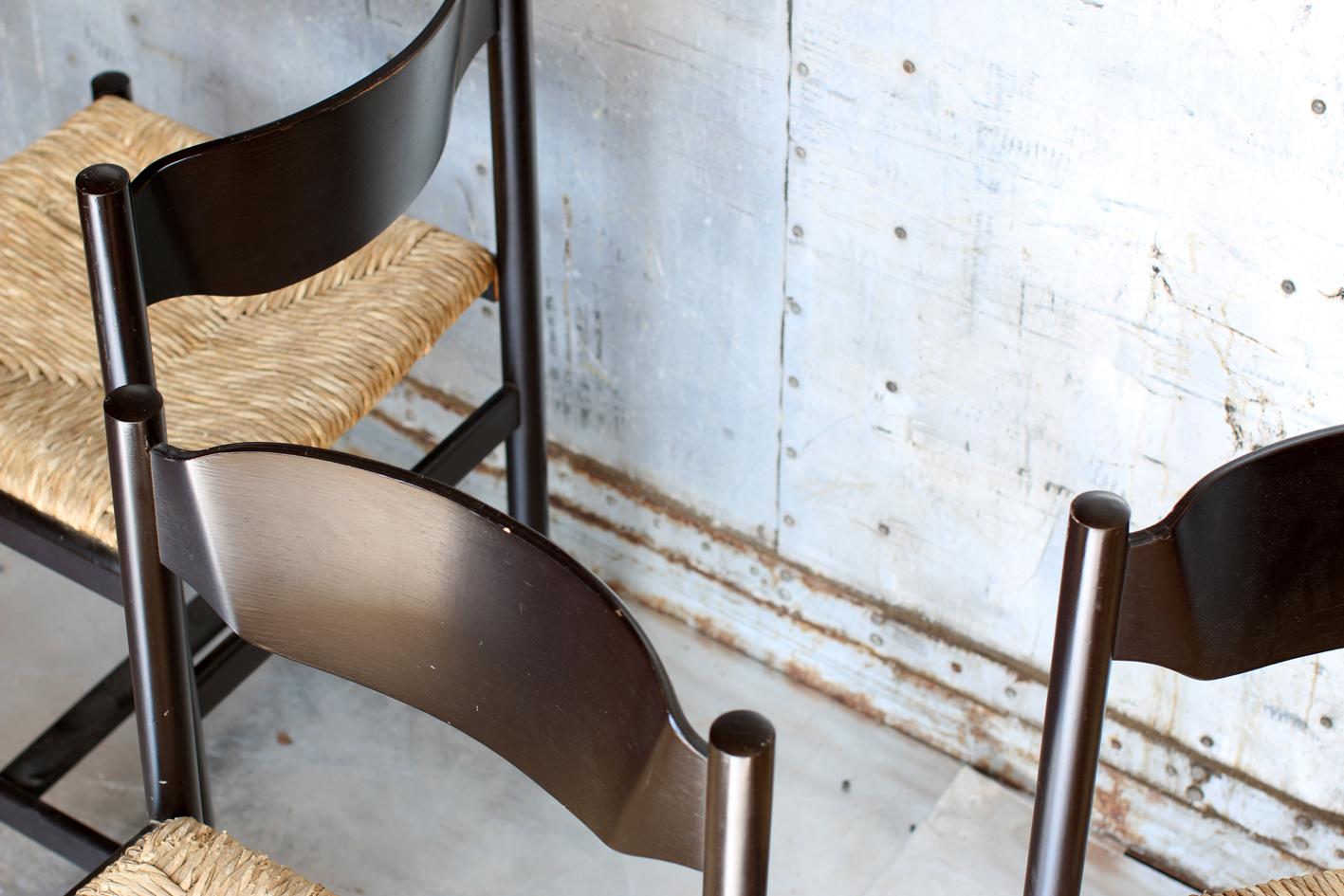 Design Pastoe Stoelen : 5 retro vintage pastoe stoelen met riet jaren 70 u2013 dehuiszwaluw