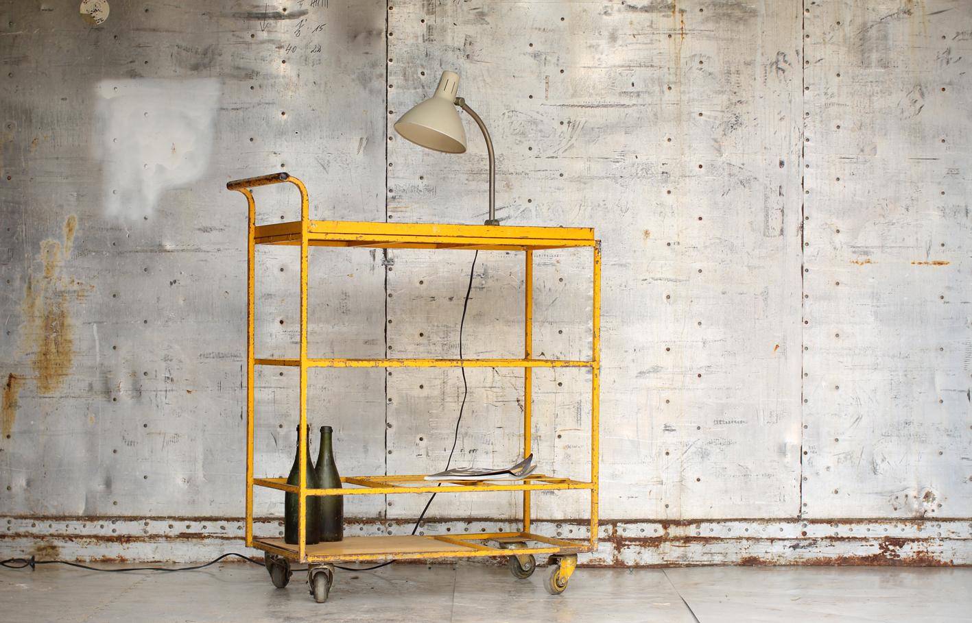 Industrieel Vintage Trolley / Werkwagen Serveerwagen u2013 Dehuiszwaluw