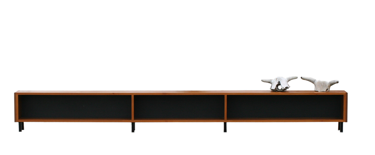 Xxxl retro vintage lang laag dressoir teakhout dehuiszwaluw for Danish design meubels