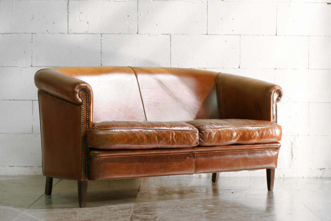 Leren Bank Schapenleer.Dehuiszwaluw Pagina 81 Vintage 20th Century Design