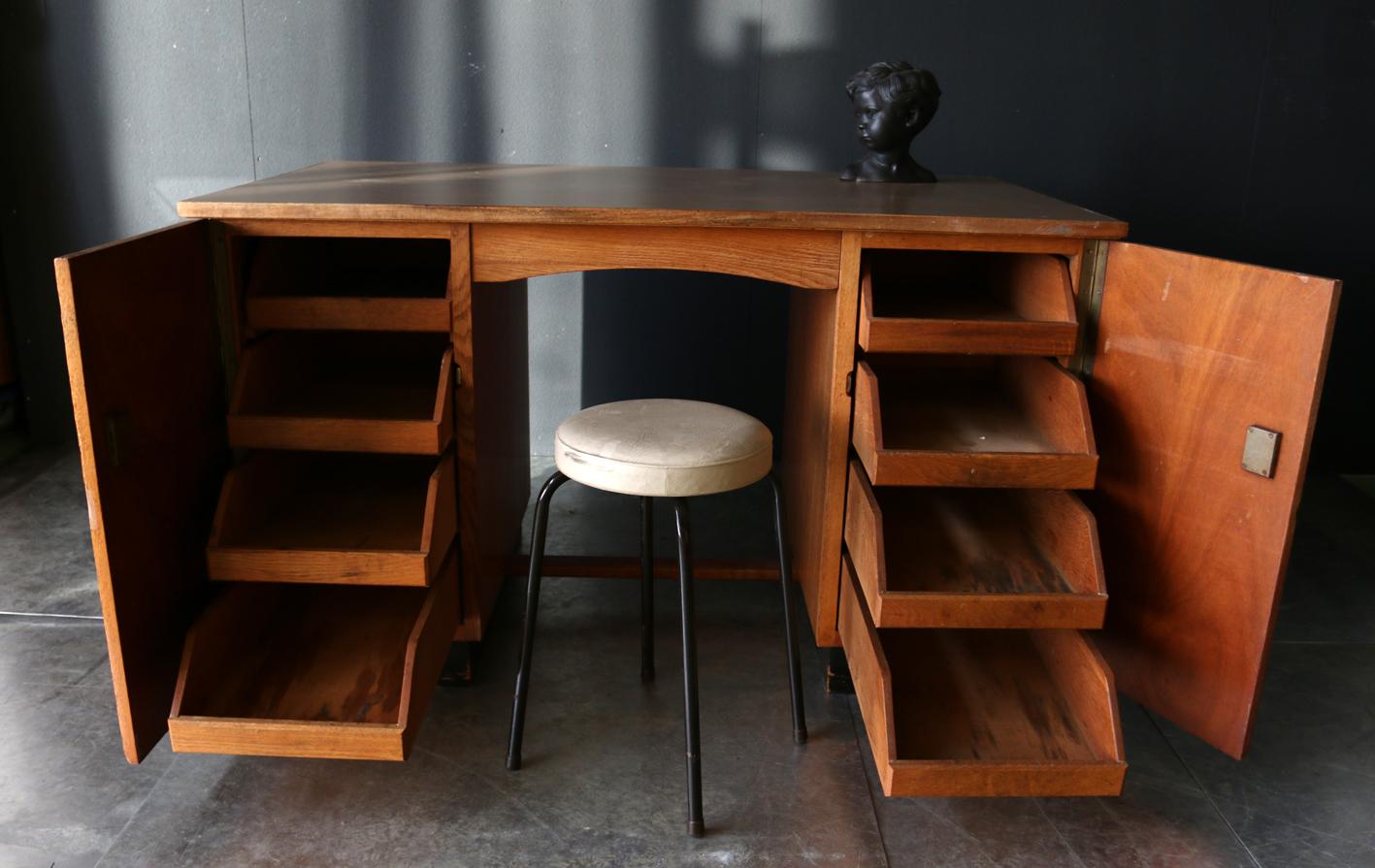 vintage strak haagse school bureau jaren 30 dehuiszwaluw. Black Bedroom Furniture Sets. Home Design Ideas