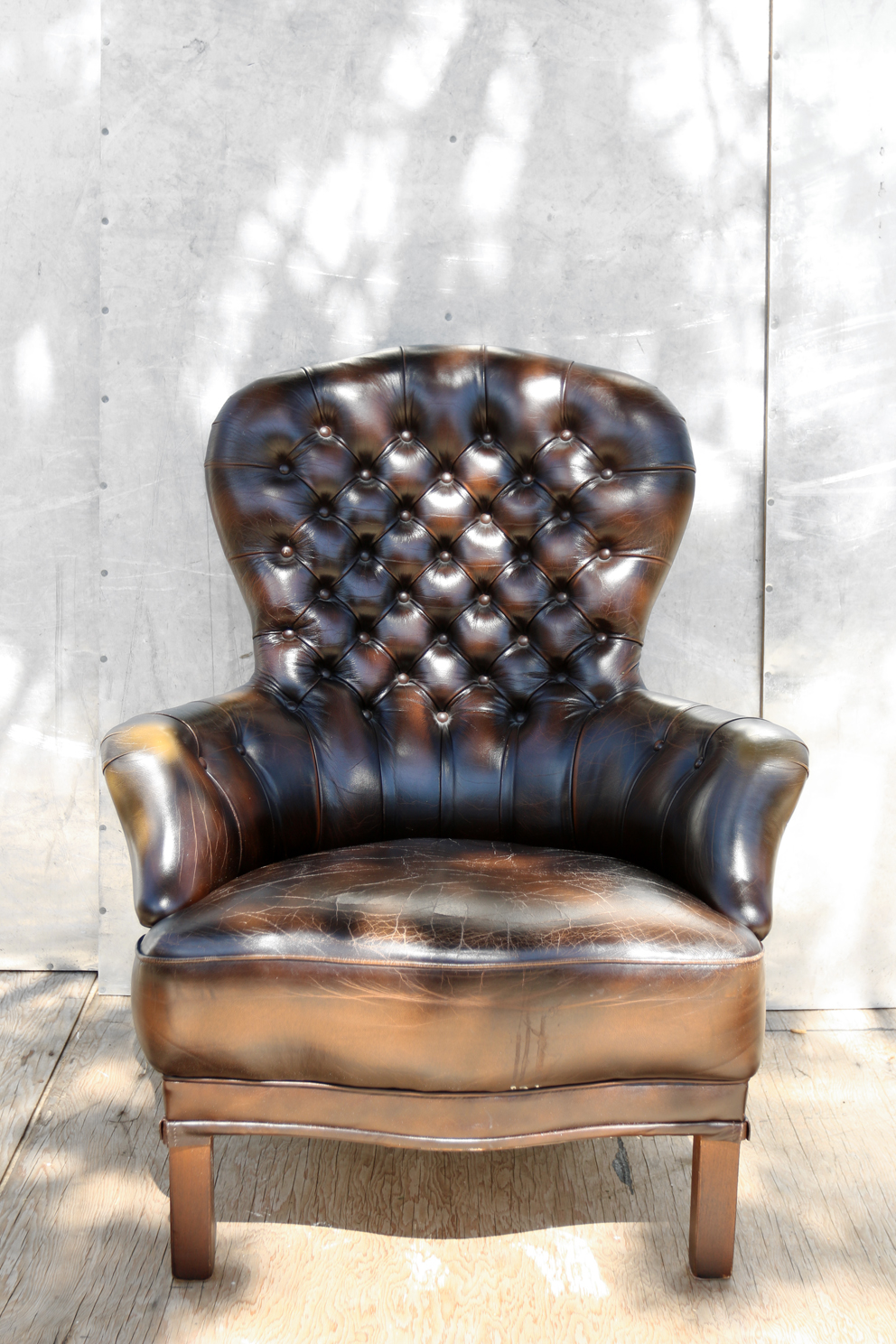 retro vintage chesterfield leren gecapitonneerde fauteuil dehuiszwaluw. Black Bedroom Furniture Sets. Home Design Ideas