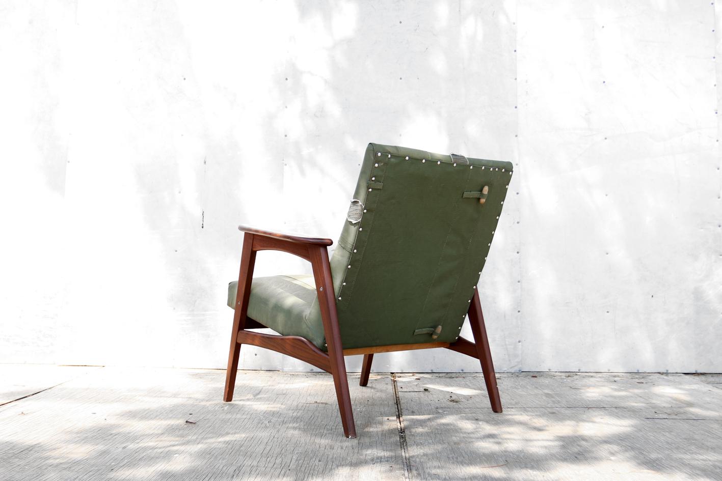 Industrieel vintage stoere legertent army fauteuil uniek for Industrieel fauteuil