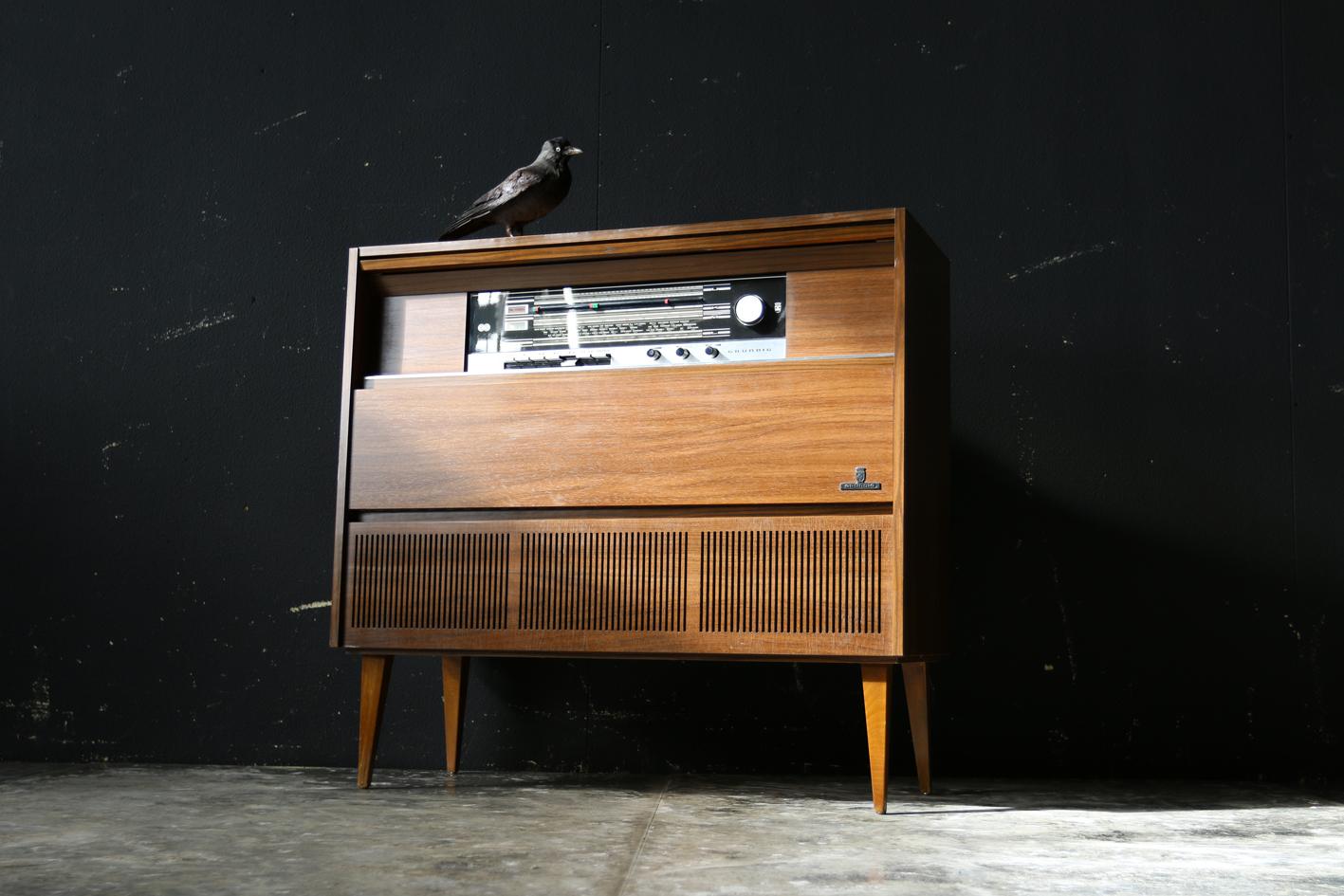 Radio Meubel Jaren 60.Retro Vintage Grundig Audiomeubel Radio Pick Up Jaren 60