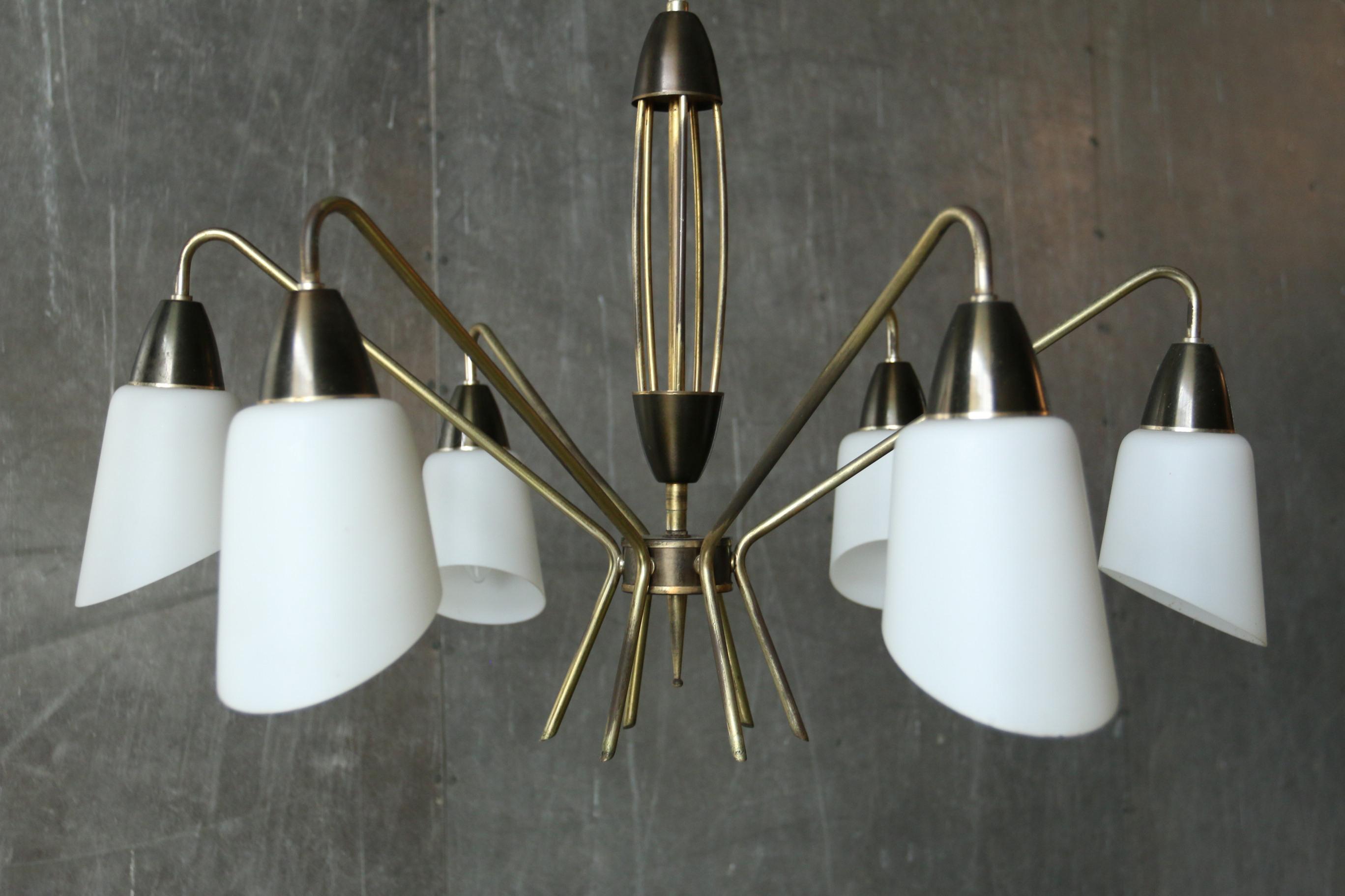 Vintage Design Stilnovo hanglamp jaren 50 – Dehuiszwaluw