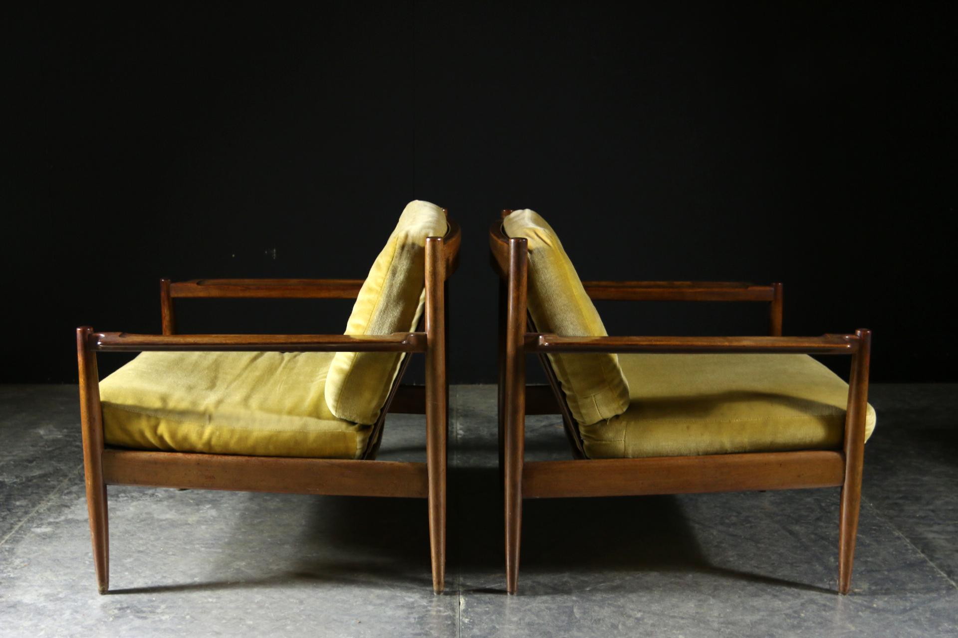 Vintage Design Fauteuil.Top Vintage Design Teakhout Fauteuils Jaren 50 Dehuiszwaluw