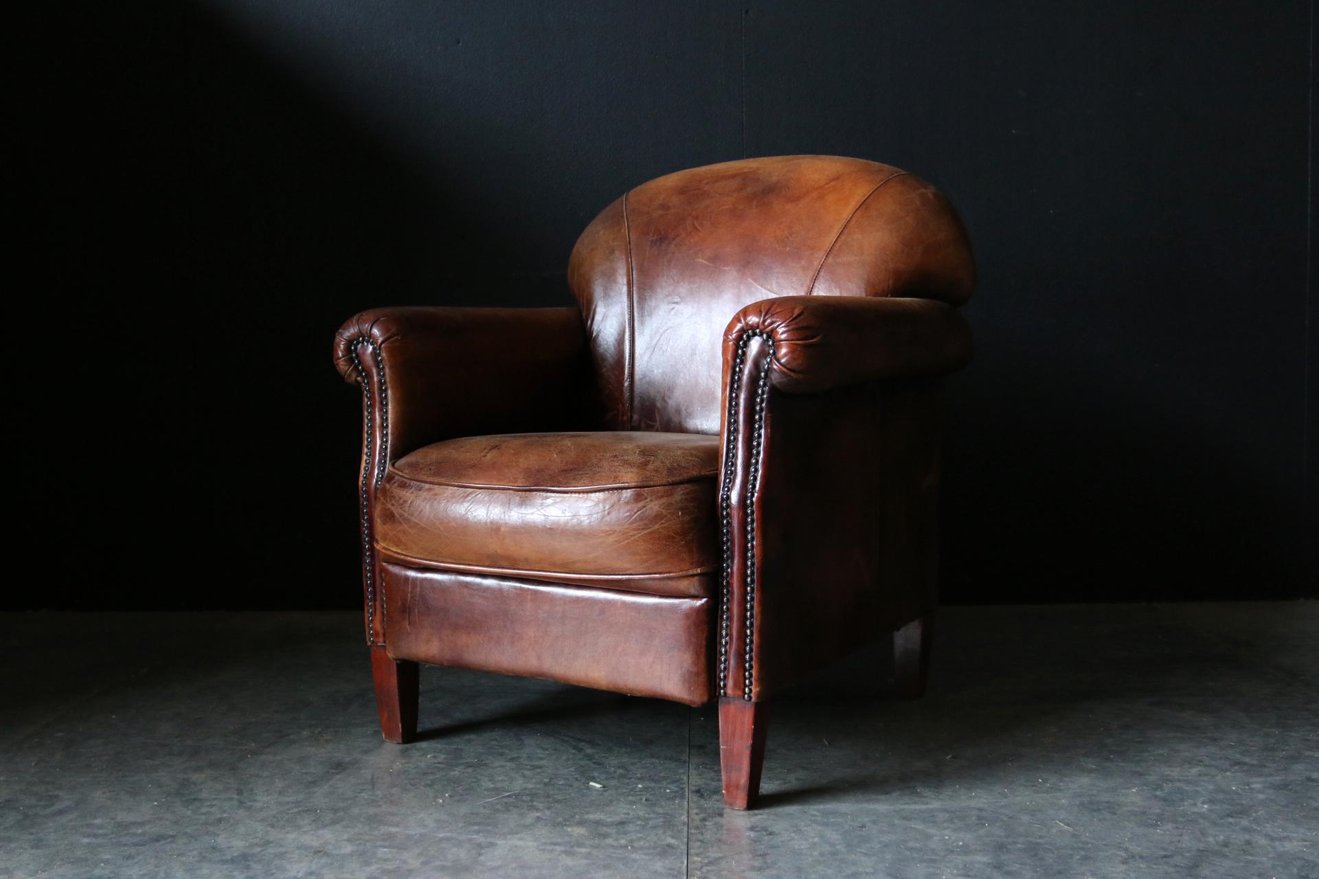 Uitgelezene Fantastische Vintage Design Schapenleren clubfauteuil – Dehuiszwaluw OM-39