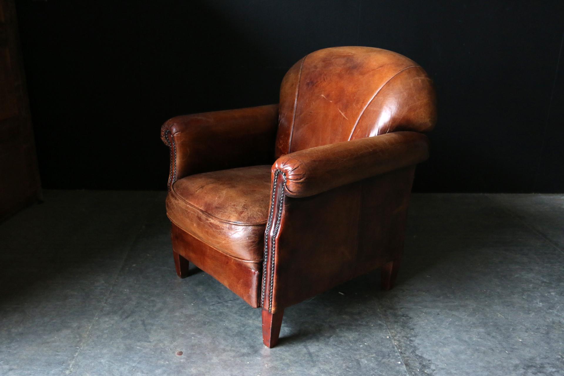 Super Fantastische Vintage Design Schapenleren clubfauteuil – Dehuiszwaluw YL-09