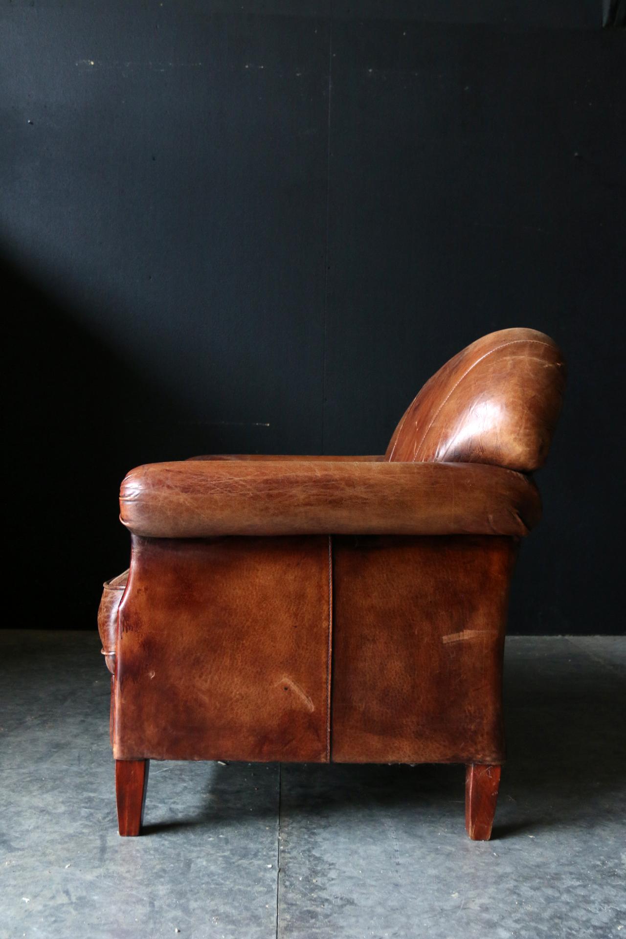 Verbazingwekkend Fantastische Vintage Design Schapenleren clubfauteuil – Dehuiszwaluw NE-05