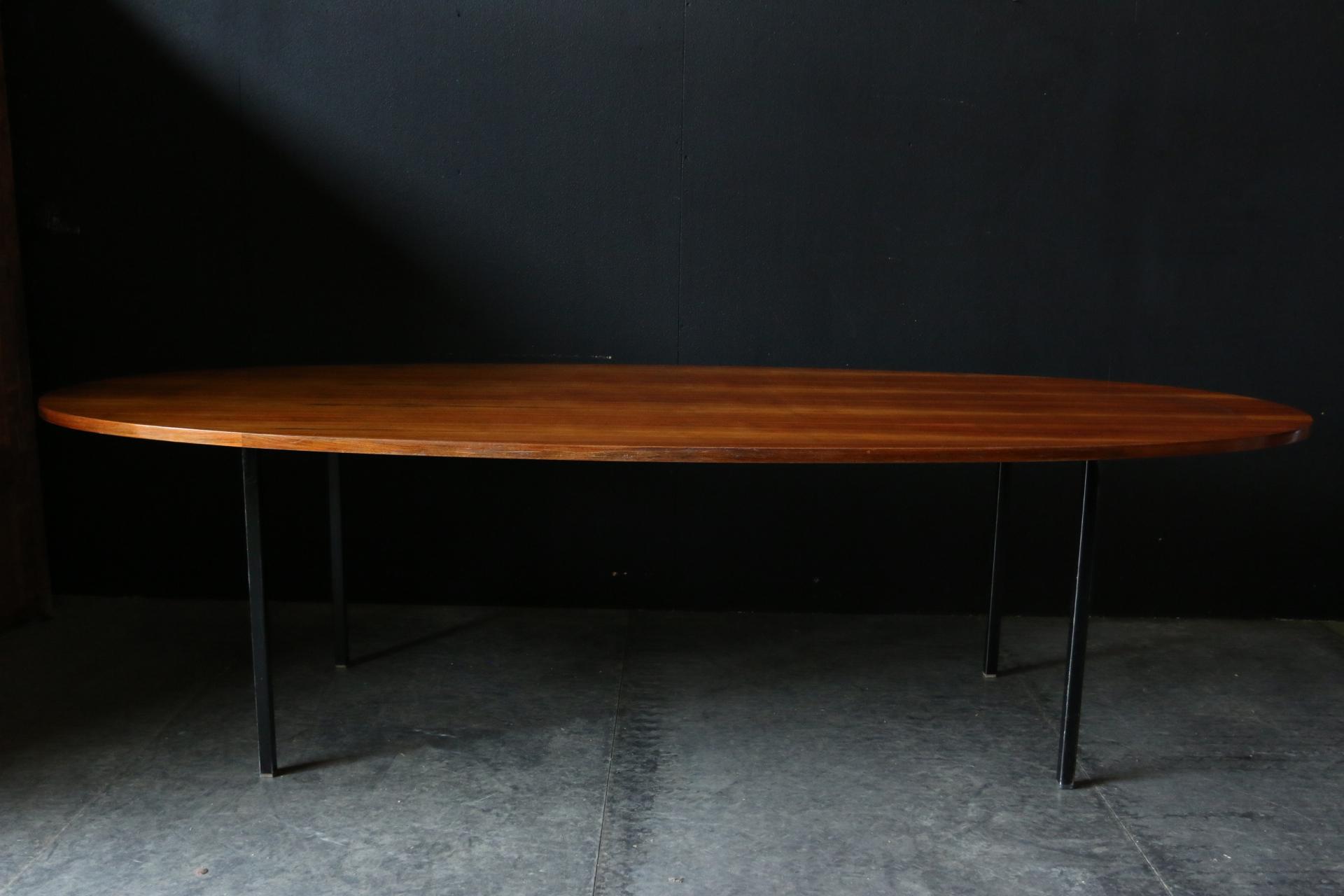 XL Industrieel Vintage Ovalen Noten Metaal stamtafel  u2013 Dehuiszwaluw