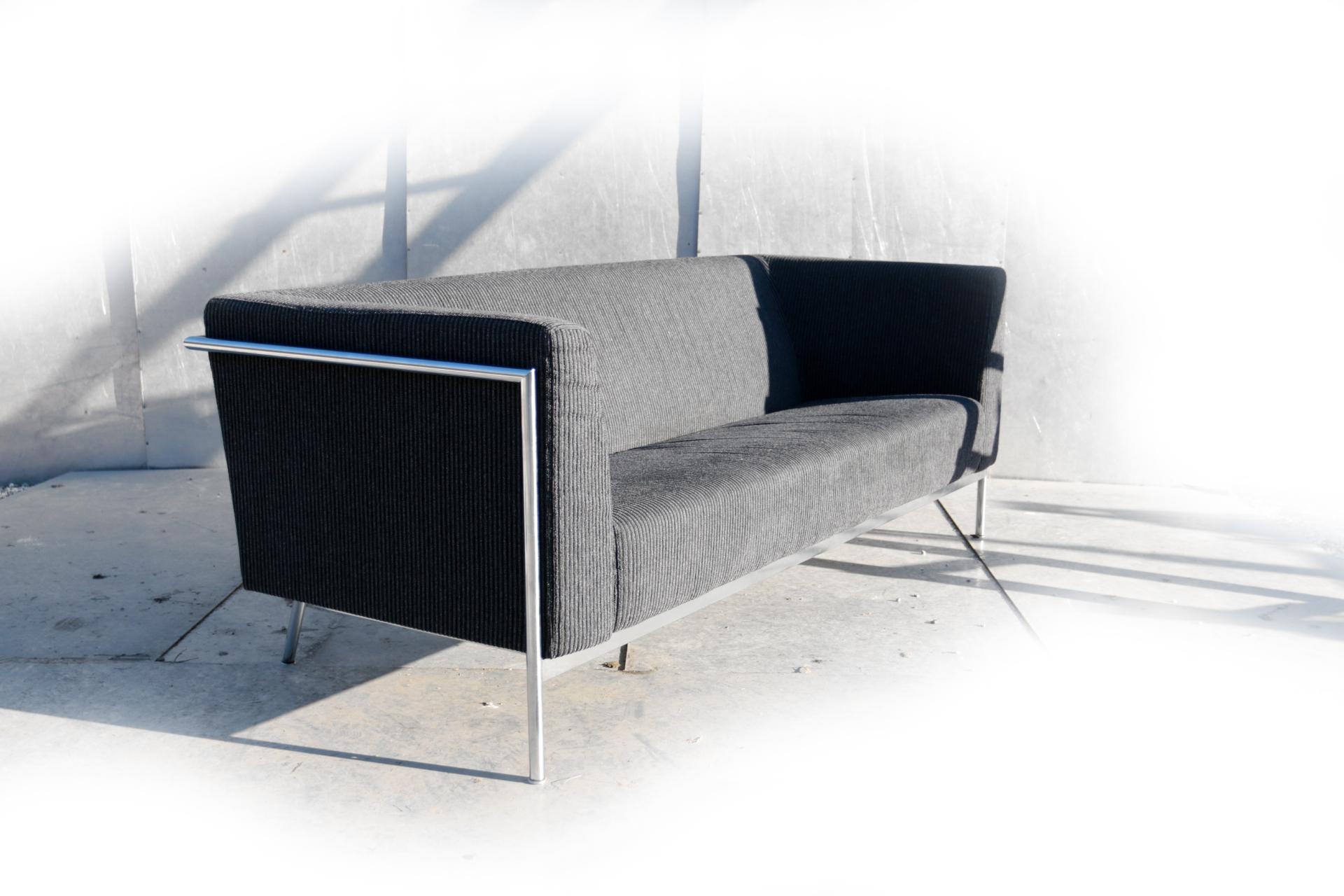 3 Zits Bank Design.Harvink Design Mr Blues Zwart Grijs Bekleed 3 Zits Bank