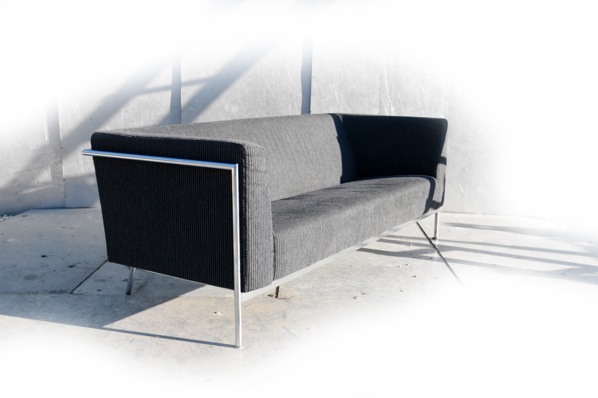 Harvink Design Salontafel.Harvink Design Mr Blues Zwart Grijs Bekleed 3 Zits Bank