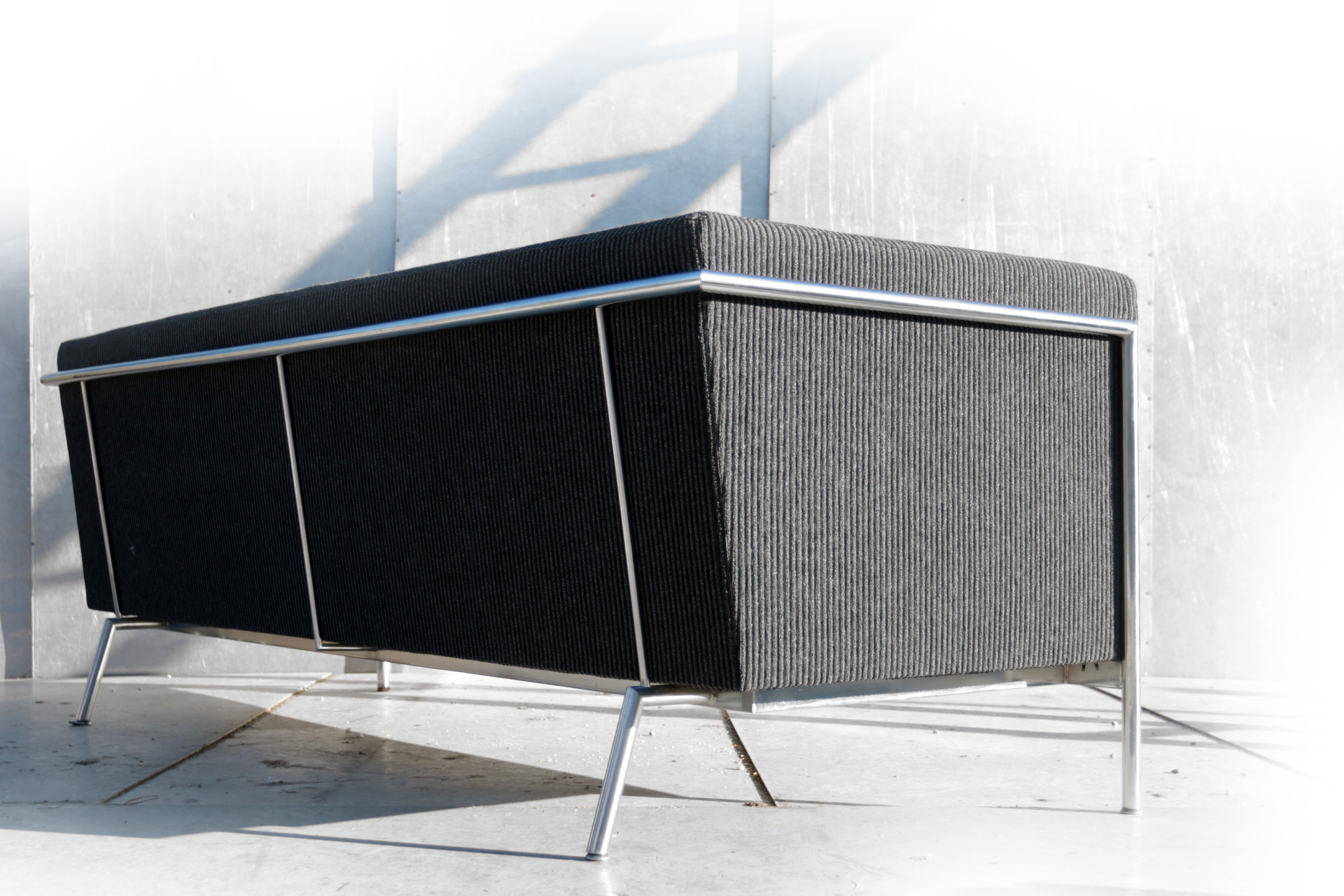 Harvink Design Bank.Harvink Design Mr Blues Zwart Grijs Bekleed 3 Zits Bank