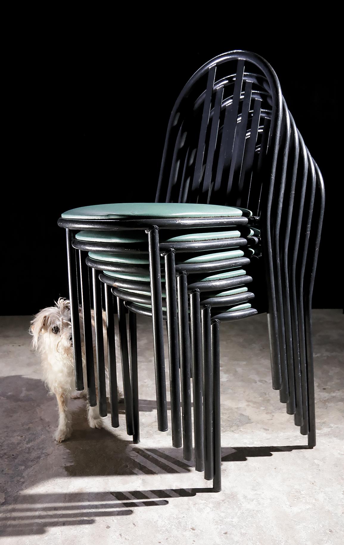 Vintage design robert mallet stevens stoelen jaren 80 for Bauhaus design stoelen